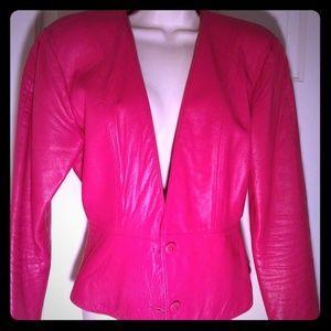 Hugo Buscati Leather Jacket Hot Pink !